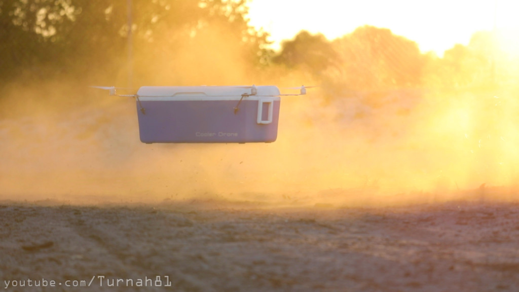 Cooler Drone kicking up dust