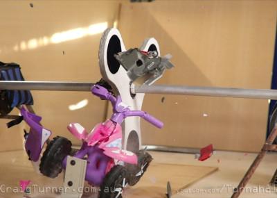Destroying kids ride on quad bike-Turnah81 - Giant Concrete Fidget Spinner - Craig Turner